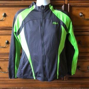 Women's Fila Track Jacket Large Grey